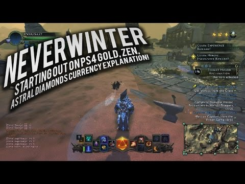Neverwinter:  Starting out  on PS4 Gold, ZEN, Astral Diamonds Currency Explanation