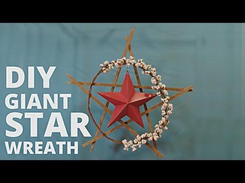Make a DIY Giant Star Wreath - HGTV