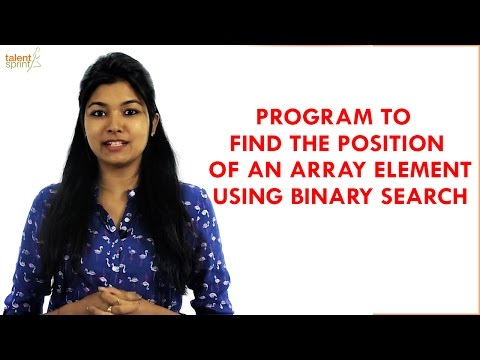 Find the position of an Array Element using Binary Search | Java Programming | TalentSprint