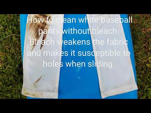 How To Clean White Baseball Pants without Bleach