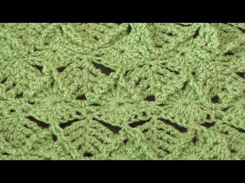 Leaf Crochet Stitch - Right Handed Crochet Tutorial