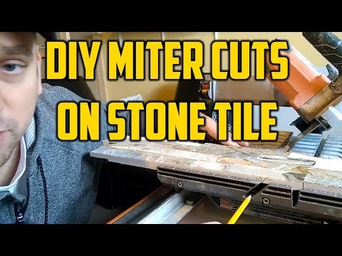 DIY Miter Cuts on Stone Tile