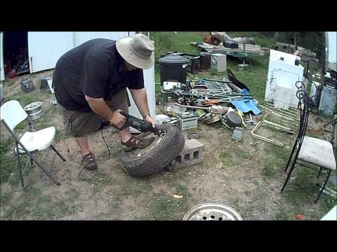 How to get tire off rim for scrapping if bead is sealed in less than 4 minutes