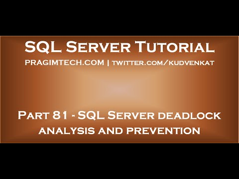 SQL Server deadlock analysis and prevention