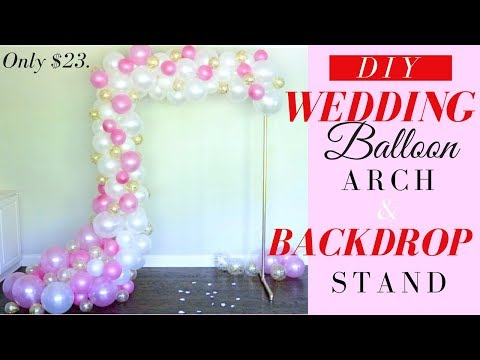 DIY WEDDING BALLOON ARCH | PVC PIPES BACKDROP STAND | EASY & ONLY $23.