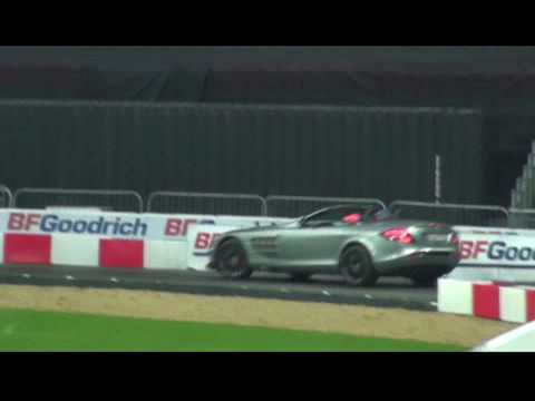 Lewis Hamilton drives an SLR McLaren 722 at Race of Champions 2008