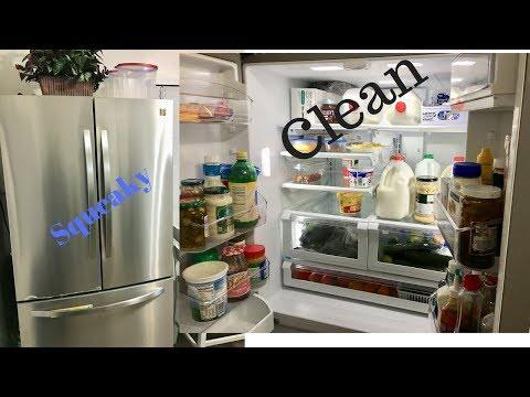 My Weekly Fridge Cleaning Organizing (Clean with Me!!)