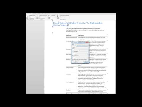 How to create an index in Word 2013