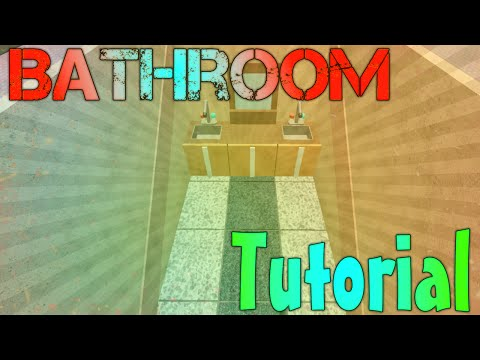 ROBLOX Building Tutorial: Bathrooms! (Best 2015 Commentary)
