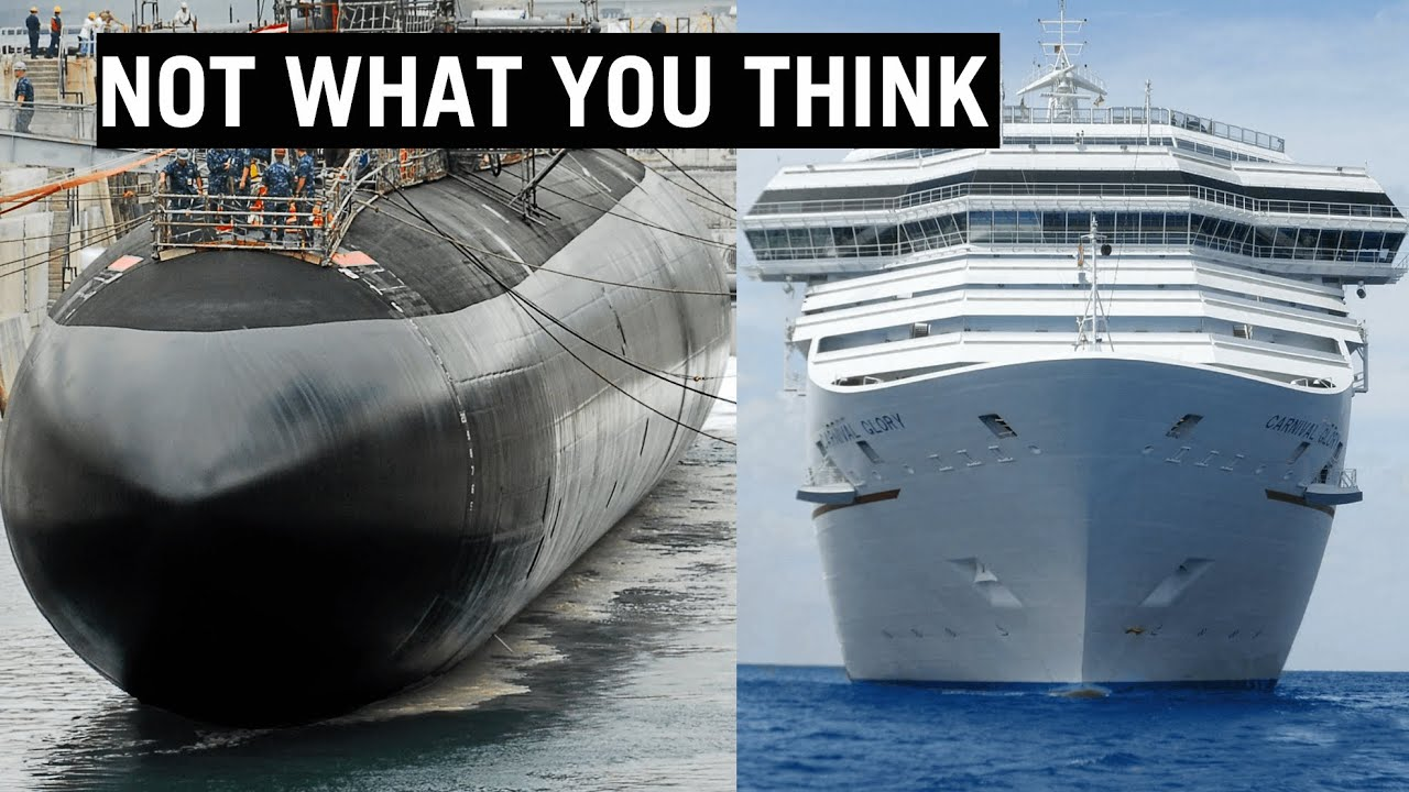 Why are Submarines Black and Cruise Ships White?