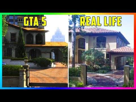 GTA 5 Locations In Real Life - Comparing Los Santos VS Los Angeles & How IDENTICAL They Are! (GTA V)
