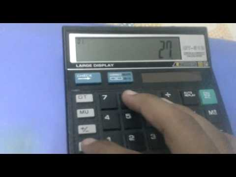 How to find cube root using a simple calculator