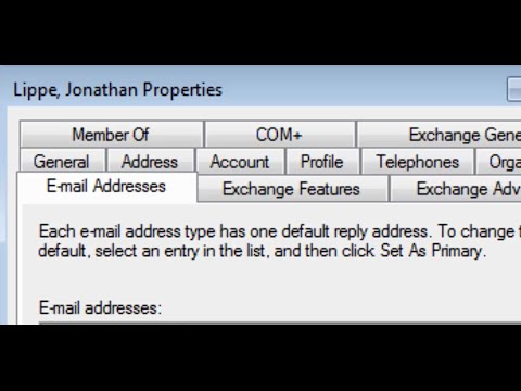 How To Get Email Tabs in Active Directory