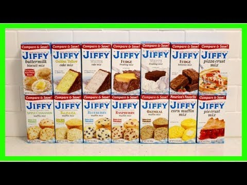 Every single box of jiffy mix, baked and tasted