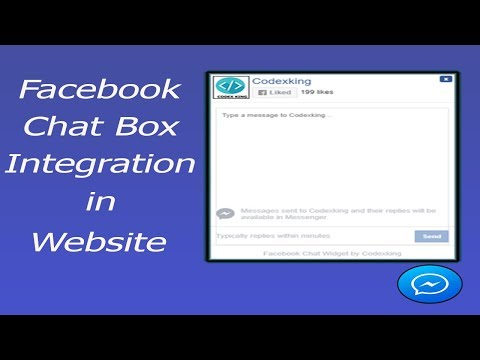 Facebook messenger chat box integration in website in hindi urdu
