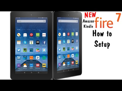 Fire 7 Tablet (5th Generation Kindle Fire ) How to Setup