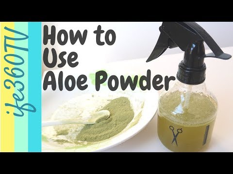 HOW TO Use ALOE VERA POWDER for Hair Growth | Natural Hair ife360TV