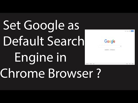 How to Set Google.com as Default Search Engine in Google Chrome ?