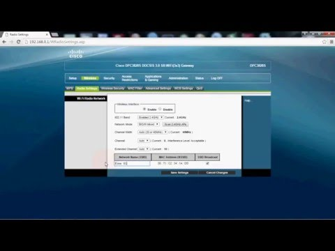 ★★How to change wifi and password modem Docsis 3 Cisco