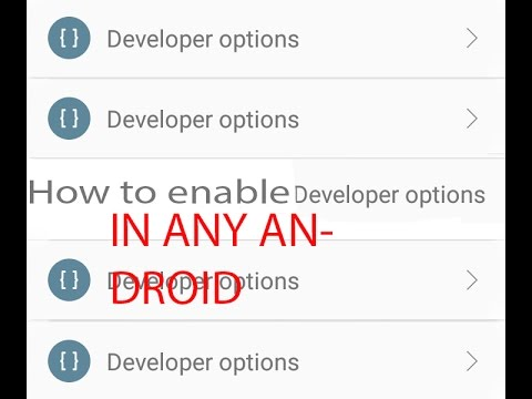 How to enable developer option in any Android phone?