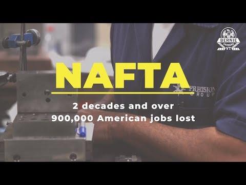 NAFTA: 2 Decades and Over 900,000 U.S. Jobs Lost