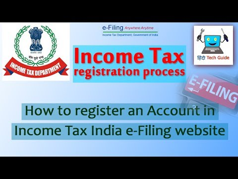 how to register on income tax website for efiling