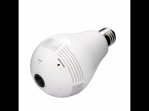 960p 360 Panoramic Wifi LED Light Bulb shaped camera