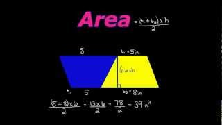 How To Find The Area Of A Trapezoid The Easy Way