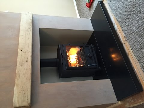 Step by step Fireline multi fuel stove installation with no chimney breast