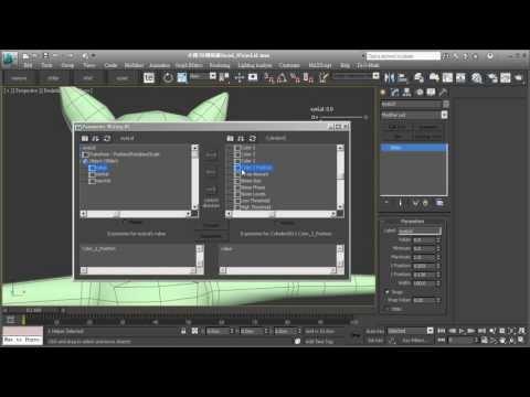 3ds Max Facial Expression 3.4 Eye Blinking - Slider Manipulator
