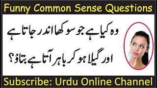 Funny Questions to ask people | Common Sense Test | Double Meaning Question | GK in Hindi