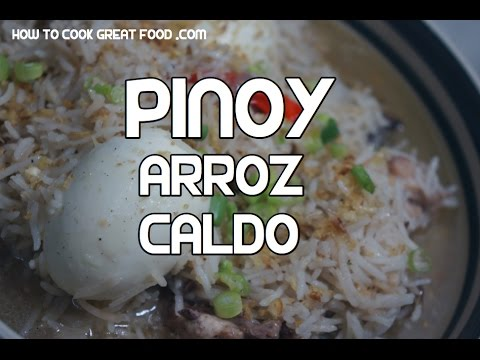 Arroz Caldo Recipe - Tagalog Pinoy Chicken Rice arrozcaldo Video