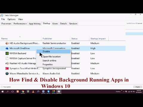 How Find & Disable Background Running Apps in Windows 10