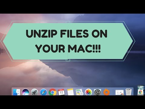 HOW TO UNZIP FILES ON MAC!!