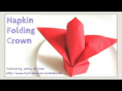 Thanksgiving Table Setting - How to Fold a Crown from a Napkin - DIY Napkin Folding Restaurant