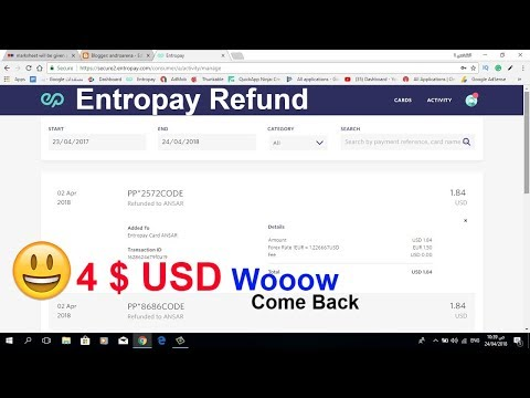 Entropay refund  my Money || Entropay help