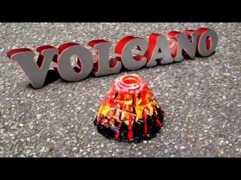 Volcano Making Kit Baking Soda and Vinegar with added pyrotechnics