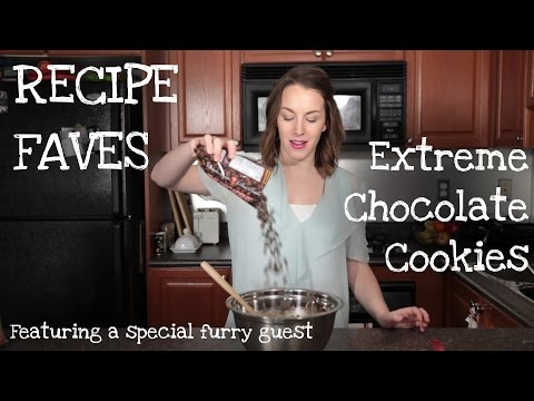 How to make EXTREME CHOCOLATE COOKIES