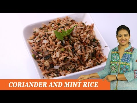 CORIANDER AND MINT RICE -  Mrs Vahchef