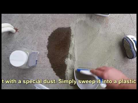How to remove oil stains from concrete driveway