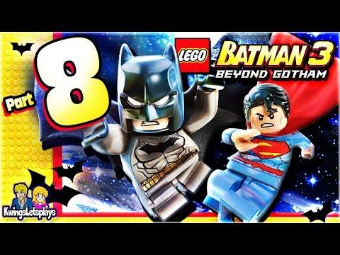 LEGO BATMAN 3 - Walkthrough Part 8 The Big Grapple!
