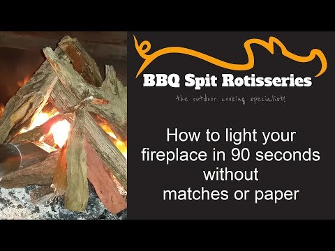 How to light a fireplace in under 90 seconds without matches or paper
