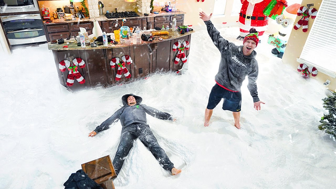 FILLING MY ENTIRE HOUSE WITH SNOW...