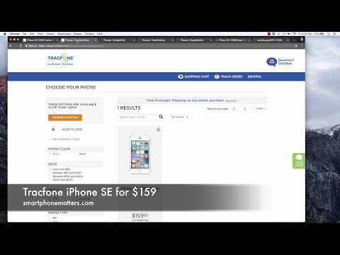 Tracfone iPhone SE for $159
