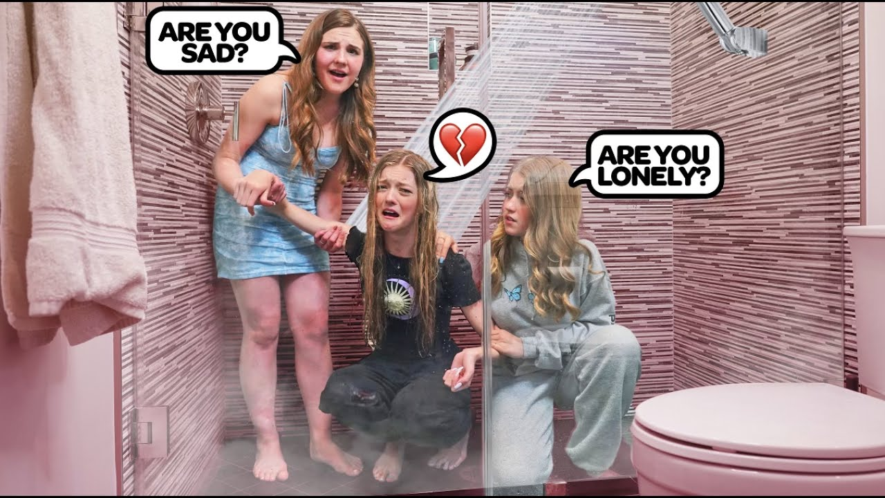 CRYING IN THE SHOWER FULLY CLOTHED PRANK **Cute Reaction**🚿😭|Emily Dobson