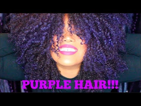 How I Dyed My Natural Hair PURPLE! | No Bleaching