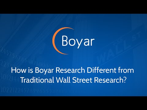 How is Boyar Research Different from Traditional Wall Street Research?