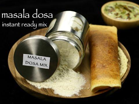 masala dosa mix recipe | instant ready mix masala dosa recipe