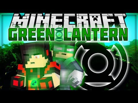 Minecraft: Mod Showcase - Green Lantern Mod [BECOME THE GREEN LANTERN]