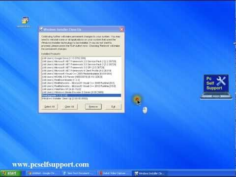 Installer cleanup  remove programs with single click